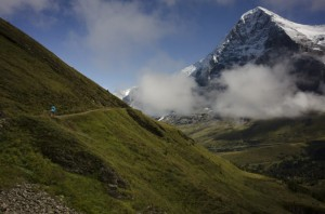 Hiking beneath the Eiger