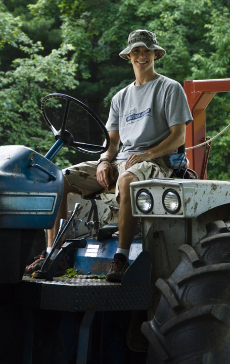 Rob on tractor