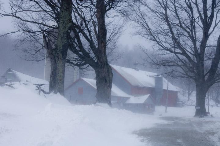 windy winter barns